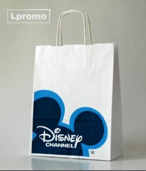Popieriniai reklaminiai maišeliai. Kraft balti, 450x460 mm