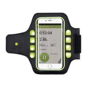Bėgiojimo laikiklis su LED šviesa, juoda / žalia spalvos